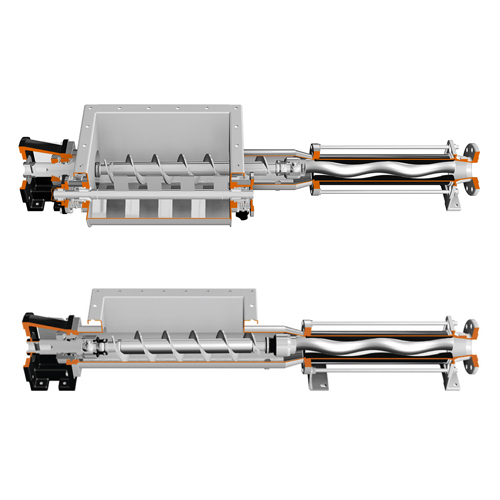 Cavity pumps with hopper